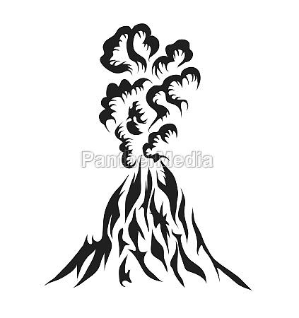 volcano eruption abstract