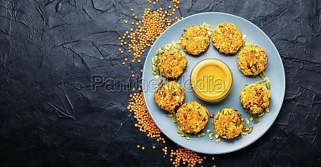 vegetarian carrot and lentil cutlets