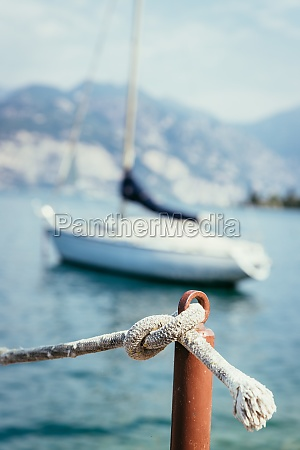 sailing sailing rope on wooden dock