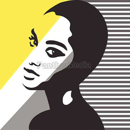 fashion woman portrait vector silhouette