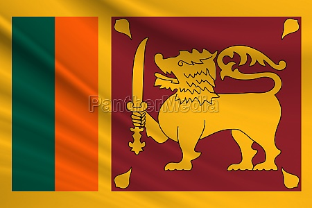 flag of sri lanka fabric texture