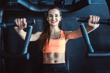 fit woman exercising in her private