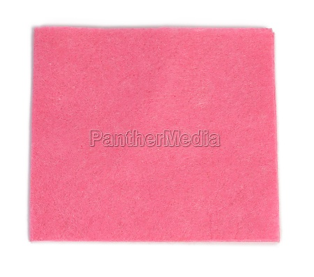 square pink cleaning rag isolated on