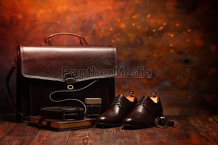 businessman accesories composition