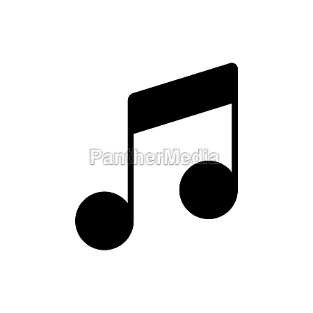 music note flat vector glyph icon