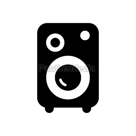 music column vector flat glyph icon