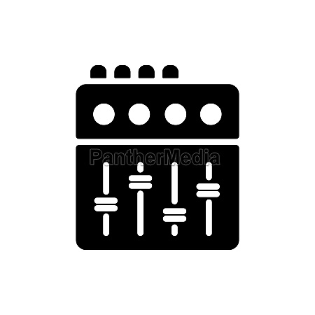 mixing console vector flat glyph icon