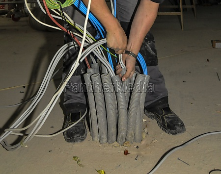 electrical wiring by an electrician
