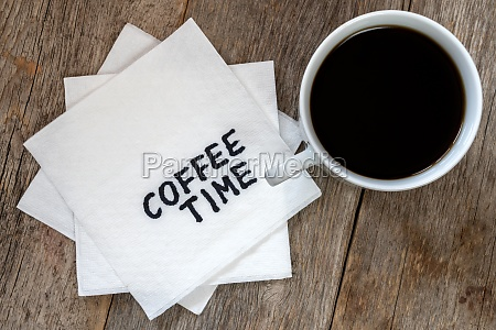 coffee time with cup of coffee
