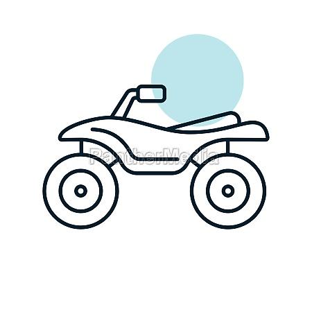 atv rider quad bike flat vector