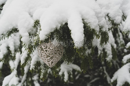 new year heart shaped decoration