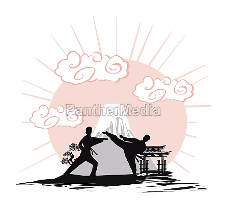karate occupations abstraction card