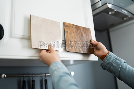 kitchen samples interior material selection