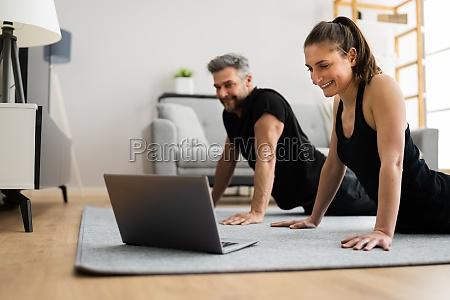 online stretching class workout
