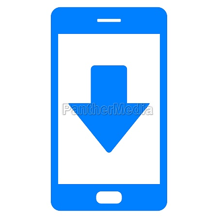 down arrow and smartphone