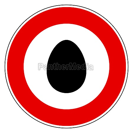 egg and prohibition sign