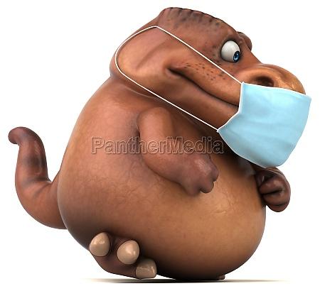 fun 3d cartoon dinosaur with a
