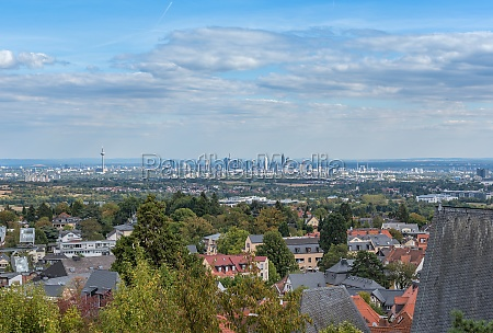 frankfurt skyline and the rhine main