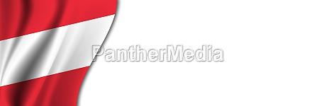 austria flag on white background white
