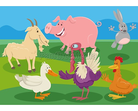 cartoon farm animal characters in the