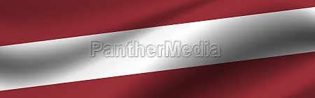 banner with the flag of latvia