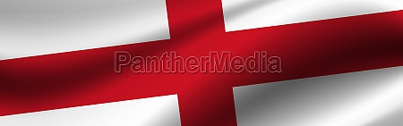 banner with the flag of england