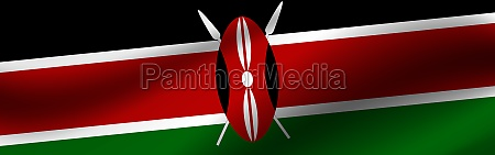banner with the flag of kenya