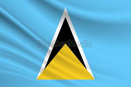 flag of saint lucia fabric texture