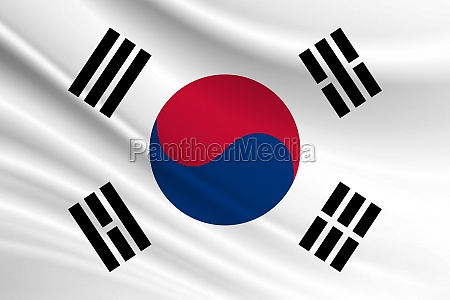 flag of south korea fabric texture