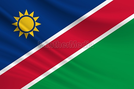 flag of namibia fabric texture of