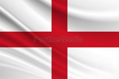 flag of england fabric texture of