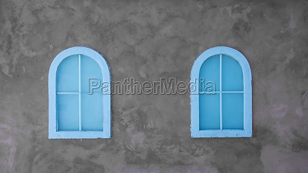 vintage window on nice color cement