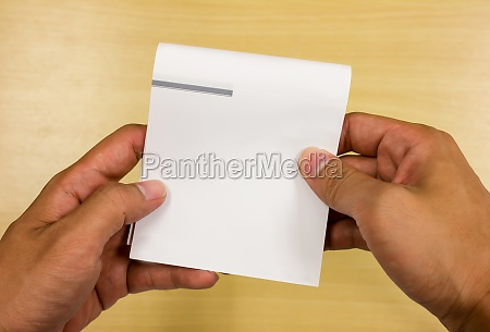 reading note paper