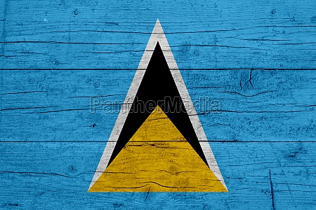 flag of saint lucia wooden texture