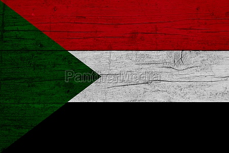 flag of sudan wooden texture of