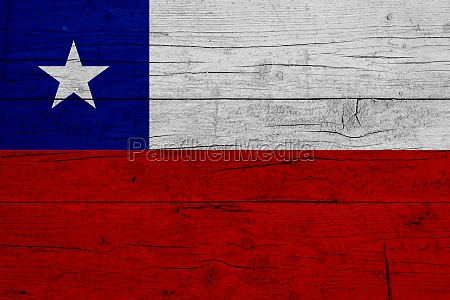 flag of chile wooden texture of