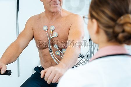 doctor discussing with patient results of
