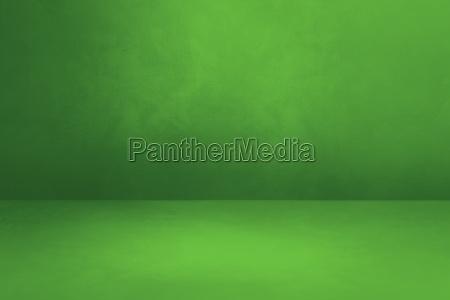 empty green concrete interior background