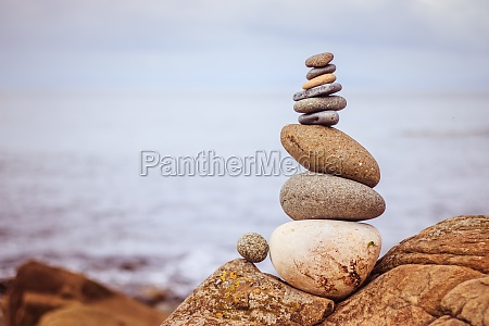 balance relaxation and wellness stone cairn