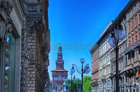 via dante and sforza castle