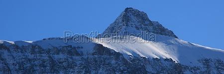 peak of mount oldenhorn on a
