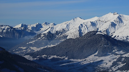 vanil, noir, in, winter., mountain, range - 29673546
