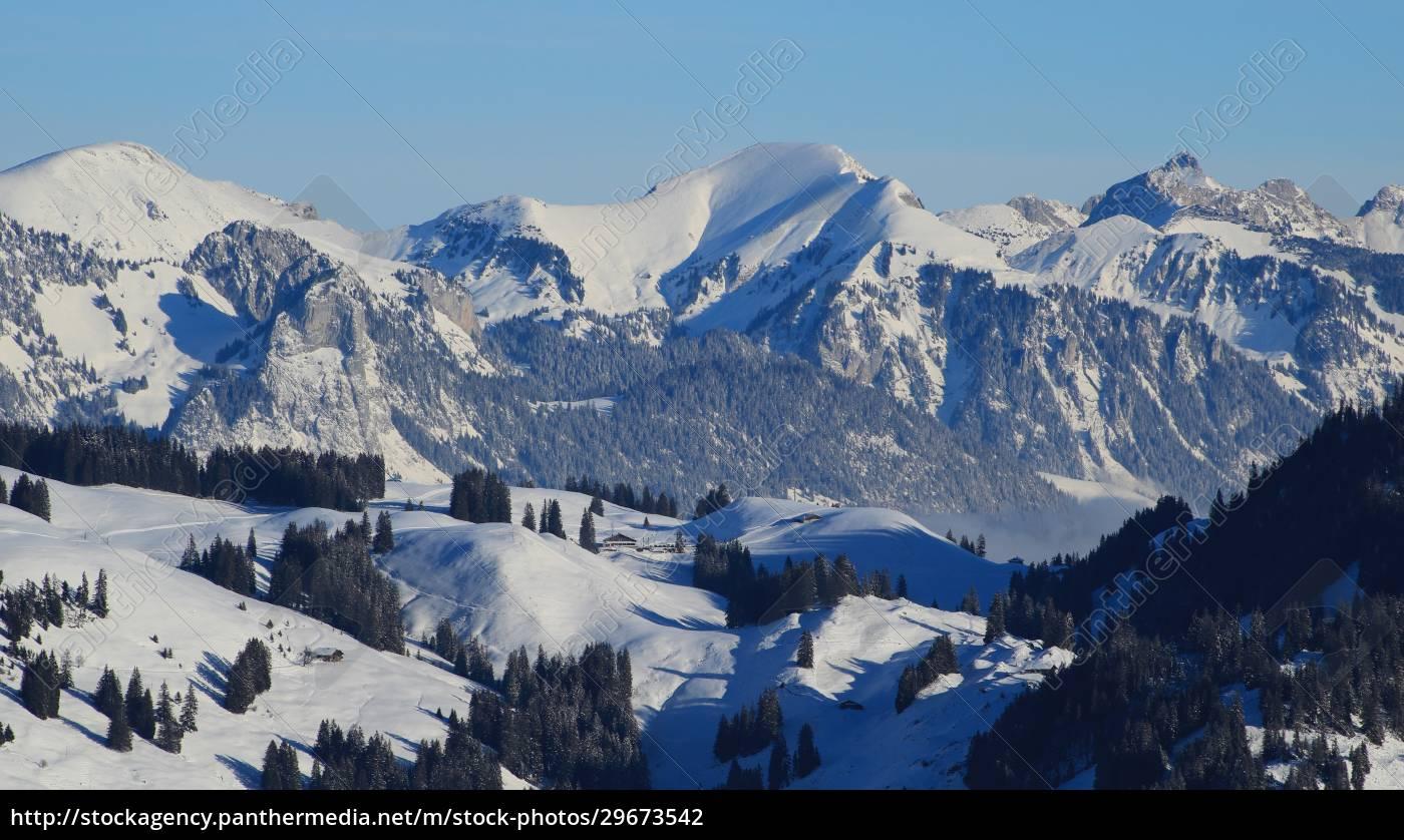 winter, landscape, seen, from, horneggli, , switzerland. - 29673542