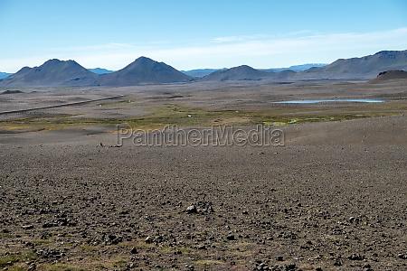 dark lava desert great vastness