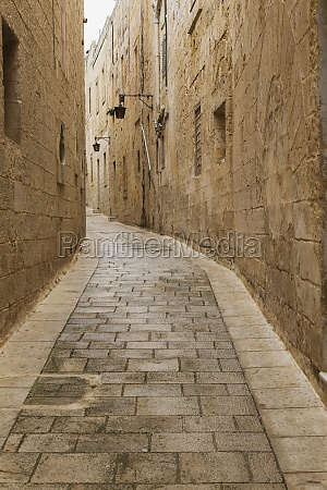 alleyway in old medieval city of