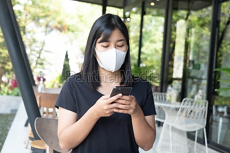 oung asian woman wearing medical mask