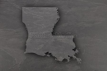 map of louisiana on dark slate