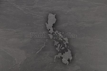 map of philippines on dark slate