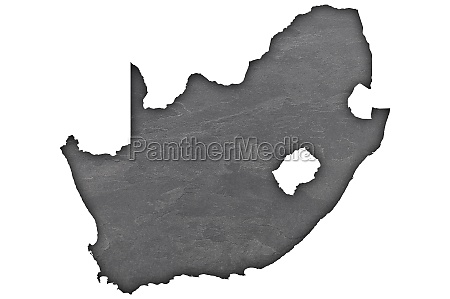 map of south africa on dark