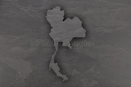 map of thailand on dark slate